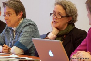 "Catherine Brice during the April 2013 NCPH Ottawa Conference, working group on ""Teaching Public History"" coordinated by Thomas Cauvin"