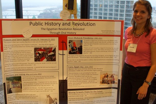 Egyptian Revolution Revealed through Oral History, Hannah Schmidt, Arizona State University, Poster Session NCPH-IFPH #NCPH2013, Ottawa, Canada